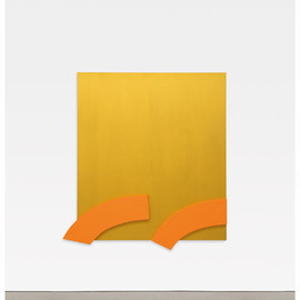 Ellsworth Kelly - Gold with Orange Reliefs, 2013