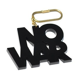 北山雅和 - NO WAR key holder (BLK)