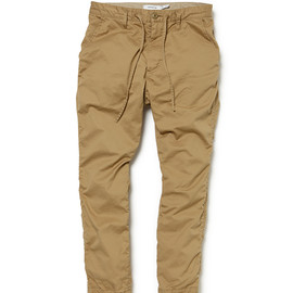 nonnative - DWELLER EASY RIB PANTS C/P GABA STRETCH