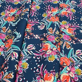 Art Gallery Fabrics - Splendid Fusion Coquet Bouquet Splendid