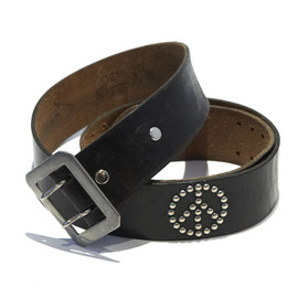 Wolf's Head - Leather Studded Belt