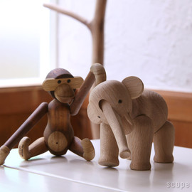 Teak and Limba Wood Monkey