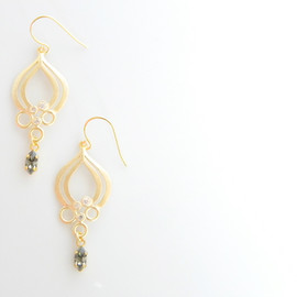 Ostara - 16k Gold Plated Cubic Zirconia Teardrop Earrings/Swarovski