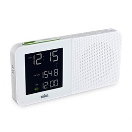 BRAUN - Digital Clock Radio, White
