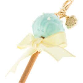 Q-pot - Lollipop Ribbon Chocolat Bag Charm /ロリポップ バッグ チャーム