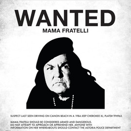 Chris D'Adamo - Goonies Mama Fratelli Wanted Poster