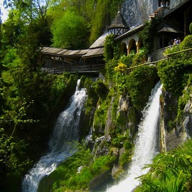 St. Beatus Caves, Switzerland - 'Waterfall Walkway'