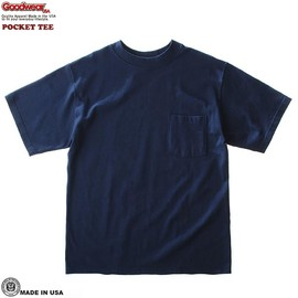 Goodwear - C/N Pocket Tee (Navy)