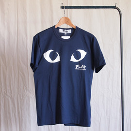 PLAY COMME des GARCONS - 綿天竺プリントT-Shirt #navy