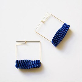 CHIKAKO YAJIMA - Square/ Pierced Earrings スクエアピアス