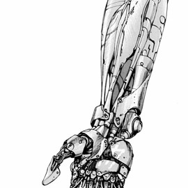 大友 克洋 - Illustration of a mechanical arm from the sci-fi manga classic「AKIRA」by Otomo Katsuhiro, Japan