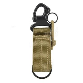 High Quality Hook Strap Keychain Cool Accessories for Backpack Bag – Army Green + Black