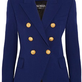 Balmain - Double-breasted stretch cotton-blend blazer