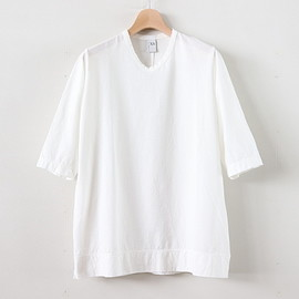 NO CONTROL AIR|UNISEX - NKN7T|ハイツイステッドコットン度詰め天竺 カットソー #WHITE [S8-NC221T7]