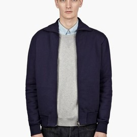 Maison Martin Margiela - 14 Men's Blue Zip-Up Sweatshirt