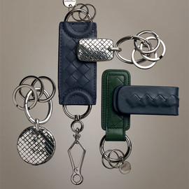 BOTTEGA VENETA - Sterling silver intrecciato key ring