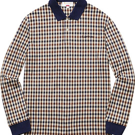 Supreme, Aquascutum - Club Check Long Sleeve Polo