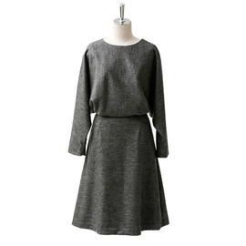beautiful people - w.jersey herringbone plain dress