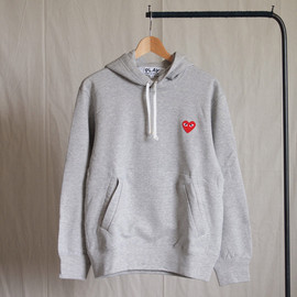 PLAY COMME des GARCONS - 綿裏毛(赤エンブレム) Parka #top gray