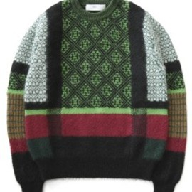 TOGA - Mohair Jacquard Knit Pullover (green)