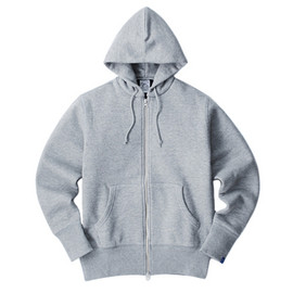 LOOPWHEELER - LW Light Twin layer zip up hoodie