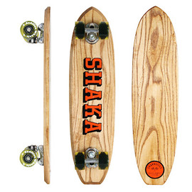 "SHAKASTICS CUSTOM PLANKS - 24"" Sidewalk Surfer Model ""SHAKA"" Logo"