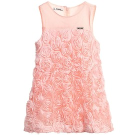 MAYORAL - Pink Tulle Rose Applique Dress