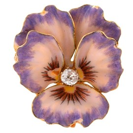 American Art Nouveau Diamond and Gold Enamel #Pansy Brooch #1stdibs #purple #decor #flower #ArtNouveau (via @1stdibs)