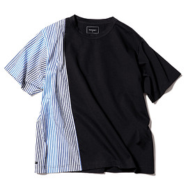 SOPHNET. - STRIPE SPLIT WIDE TEE