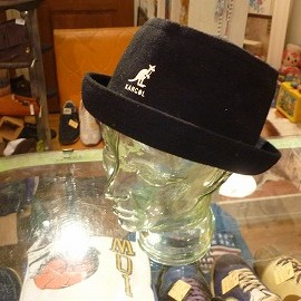 "Kangol - 「<used>90's Kangol PORK PIE HAT black""made in ENGLAND"" 5800yen」完売"