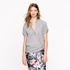 J.CREW - Boyfriend popover in placed stripe
