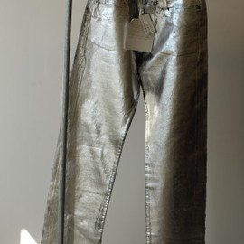 Maison Martin Margiela - Metallic Silver Coating Denim Pants 03S/S