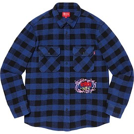 Supreme - 1-800 Buffalo Plaid Shirt Royal