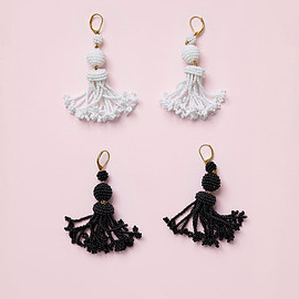 CELINE - Céline Beads Pompon Earrings