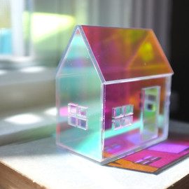2of2 - Rainbow Iridescent Acrylic House