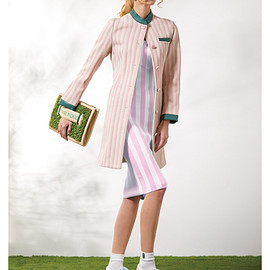 PAMEO POSE - STRIPE SPRING COAT