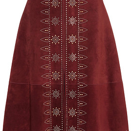 VALENTINO - SS2015 Studded suede skirt