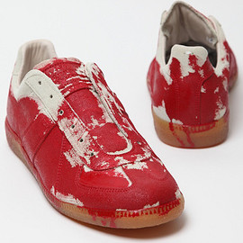 MAISON MARTIN MARGIELA - MAISON MARTIN MARGIELA 22 HAND PAINTED REPLICA TRAINER