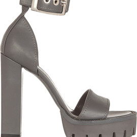 Alexander McQueen - Leather platform sandals
