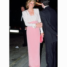 Lady Diana - Pink Gown with Cuff Link