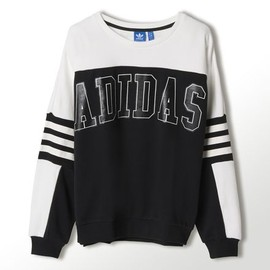 adidas originals - Logo Sweatshirt, Black / Core White, zoom