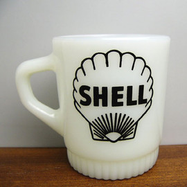 Fire King - SHELL ribbed advertising mug