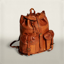 RRL - Riley Leather Rucksack