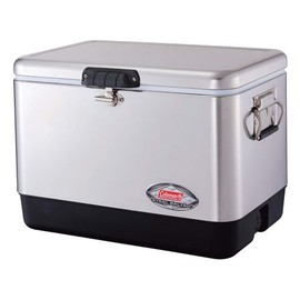 Coleman - 54QT Steel Belt Cooler Silvet