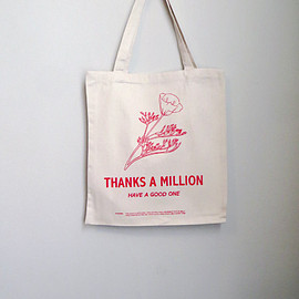 Screenprinted Cotton Twill Thank You Tote