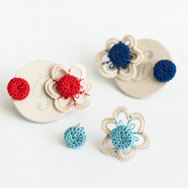 peikko - tatting lace flower button pierce