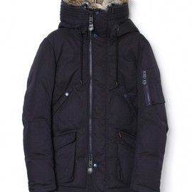 nonnative - HUNTER DOWN JACKET - COTTON MIX ARMY CLOTH