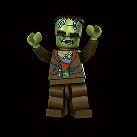 """Lego - """"The Crazy Scientist's Monster"""" Minifigure"""