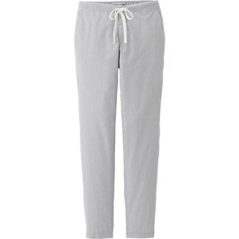UNIQLO - WOMEN IDLF SEERSUCKER COTTON RELAXED PANTS