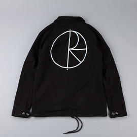 POLAR SKATE CO. - Stroke Logo Coach Jacket Black